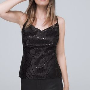 WHBM   NWT Sequin Embroidered Camisole